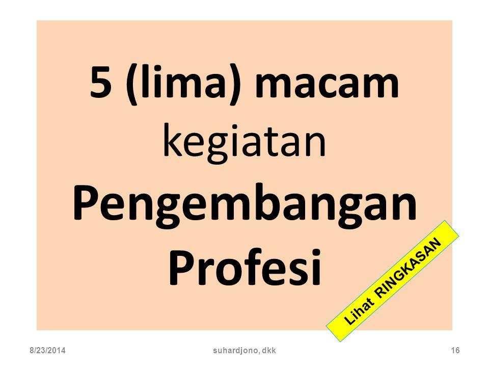 5 (lima) macam kegiatan Pengembangan Profesi