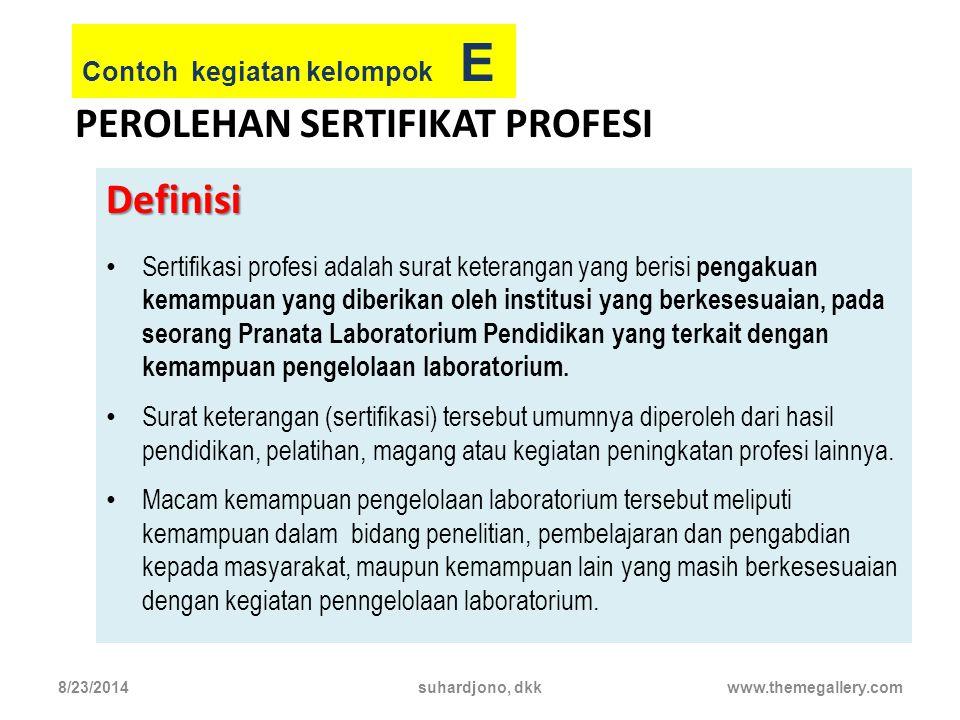 Perolehan sertifikat profesi
