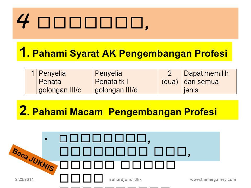 4 langkah, 1. Pahami Syarat AK Pengembangan Profesi