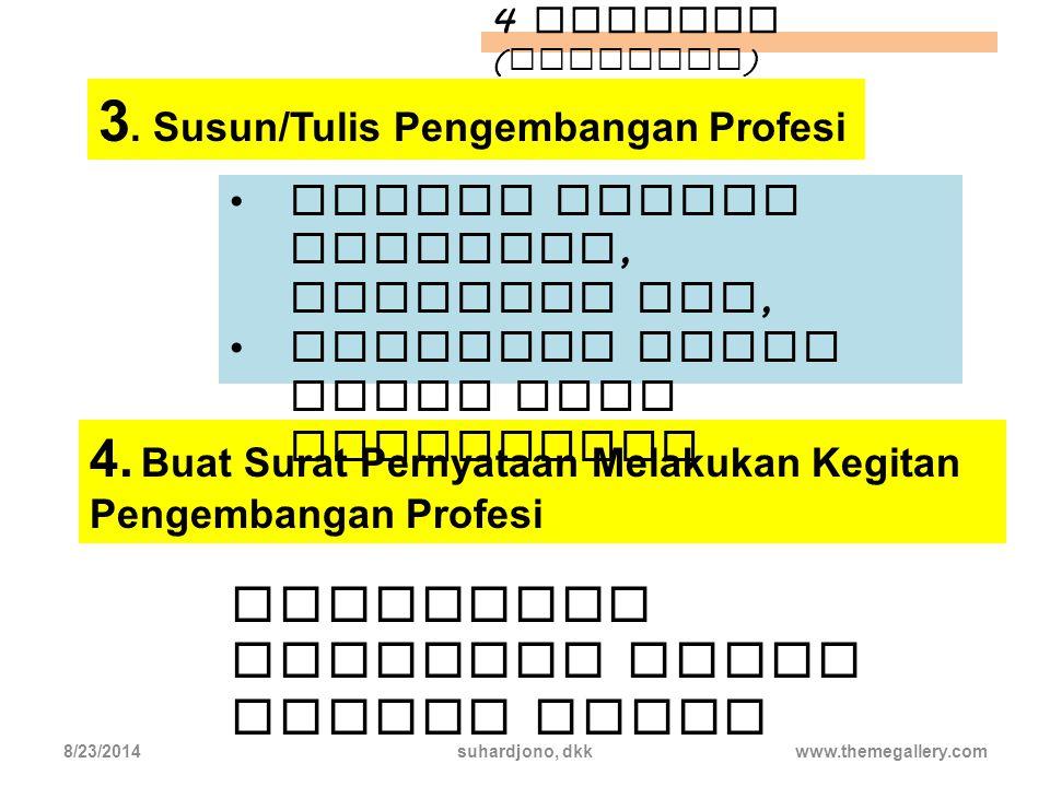3. Susun/Tulis Pengembangan Profesi