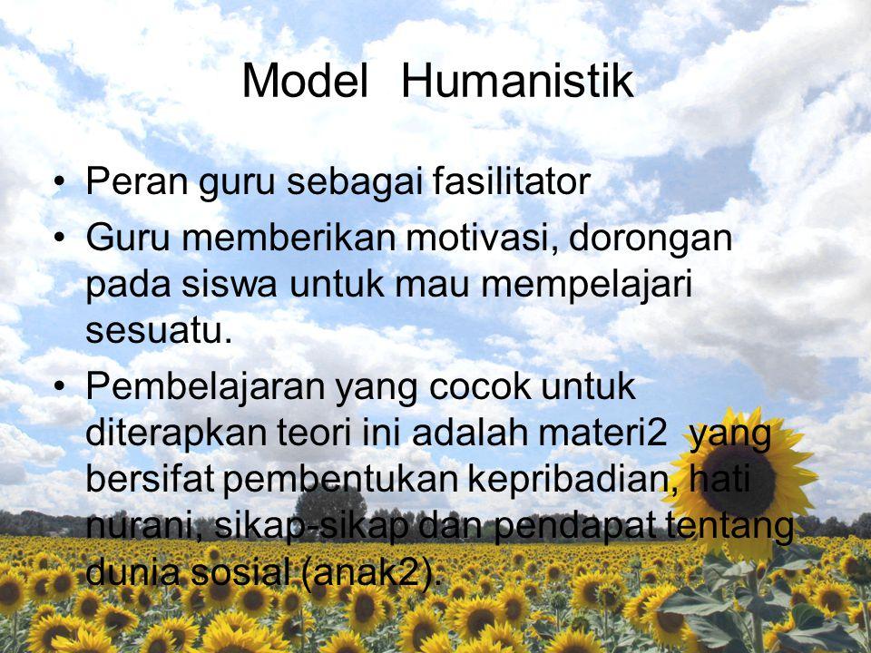 Model Humanistik Peran guru sebagai fasilitator