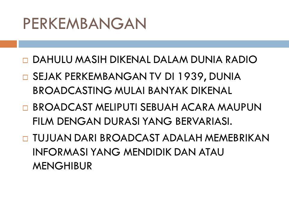 PERKEMBANGAN DAHULU MASIH DIKENAL DALAM DUNIA RADIO