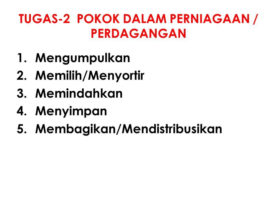 TUGAS-2 POKOK DALAM PERNIAGAAN / PERDAGANGAN