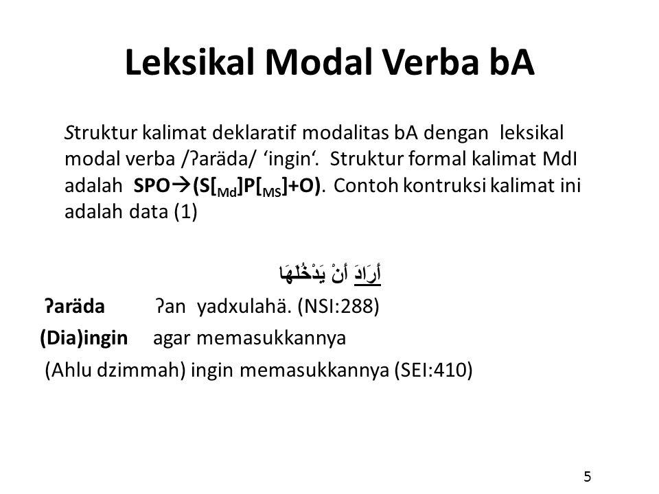 Leksikal Modal Verba bA