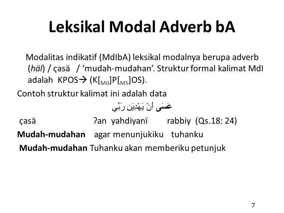 Leksikal Modal Adverb bA