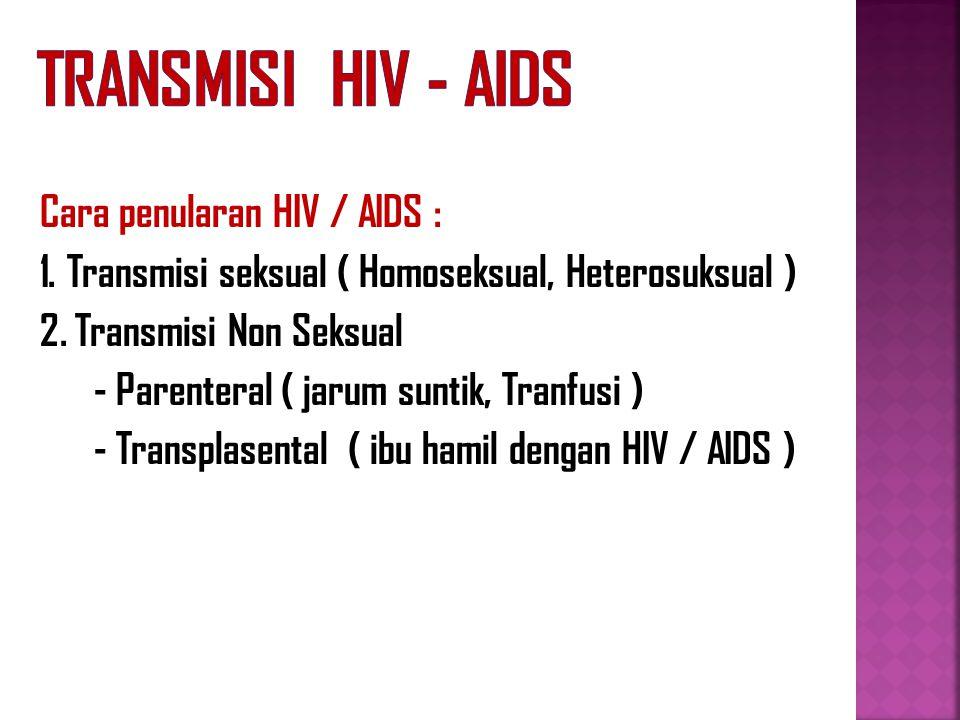 Transmisi HIV - AIDS