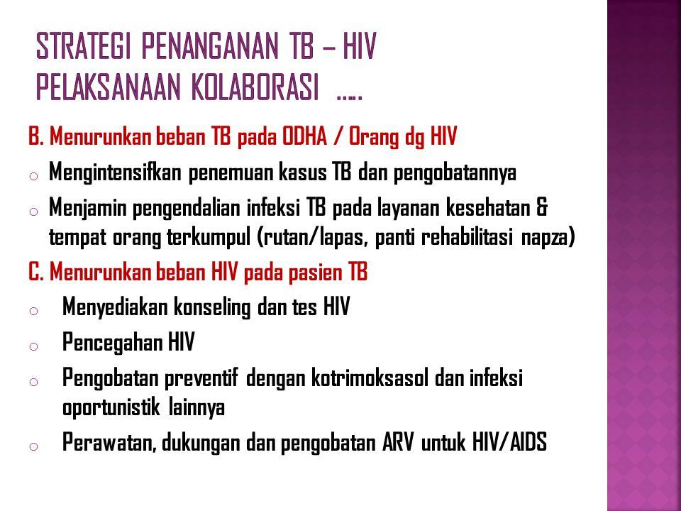 Strategi Penanganan TB – HIV Pelaksanaan Kolaborasi …..
