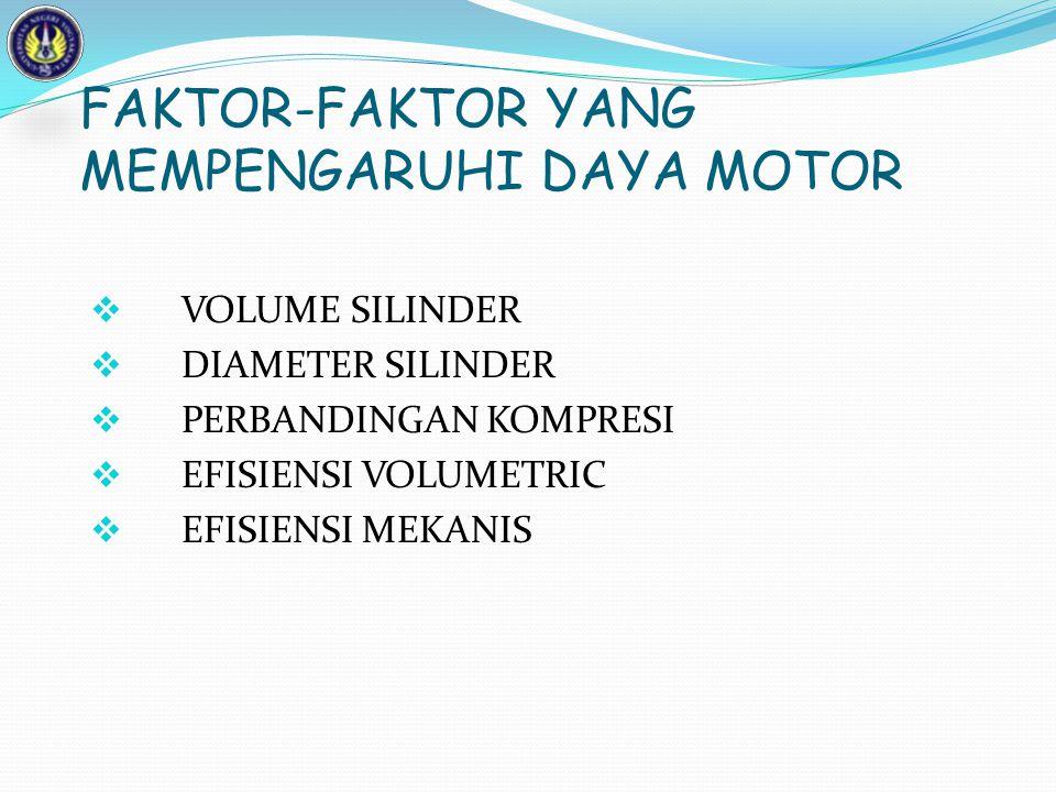 FAKTOR-FAKTOR YANG MEMPENGARUHI DAYA MOTOR