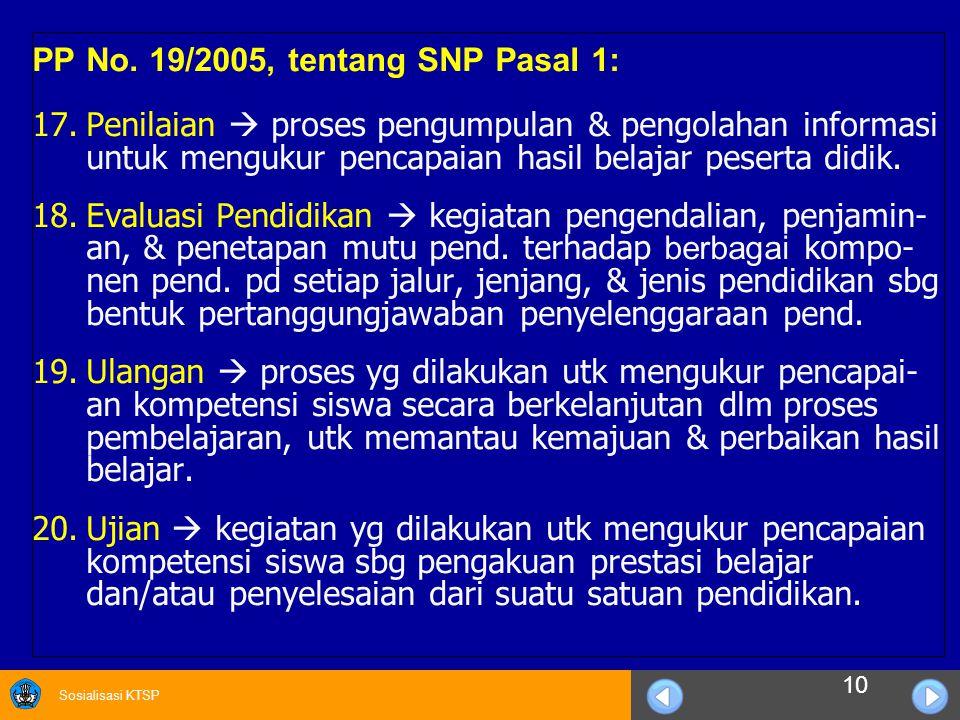 PP No. 19/2005, tentang SNP Pasal 1: