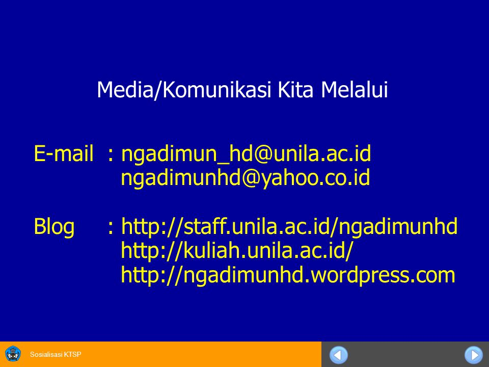 Media/Komunikasi Kita Melalui