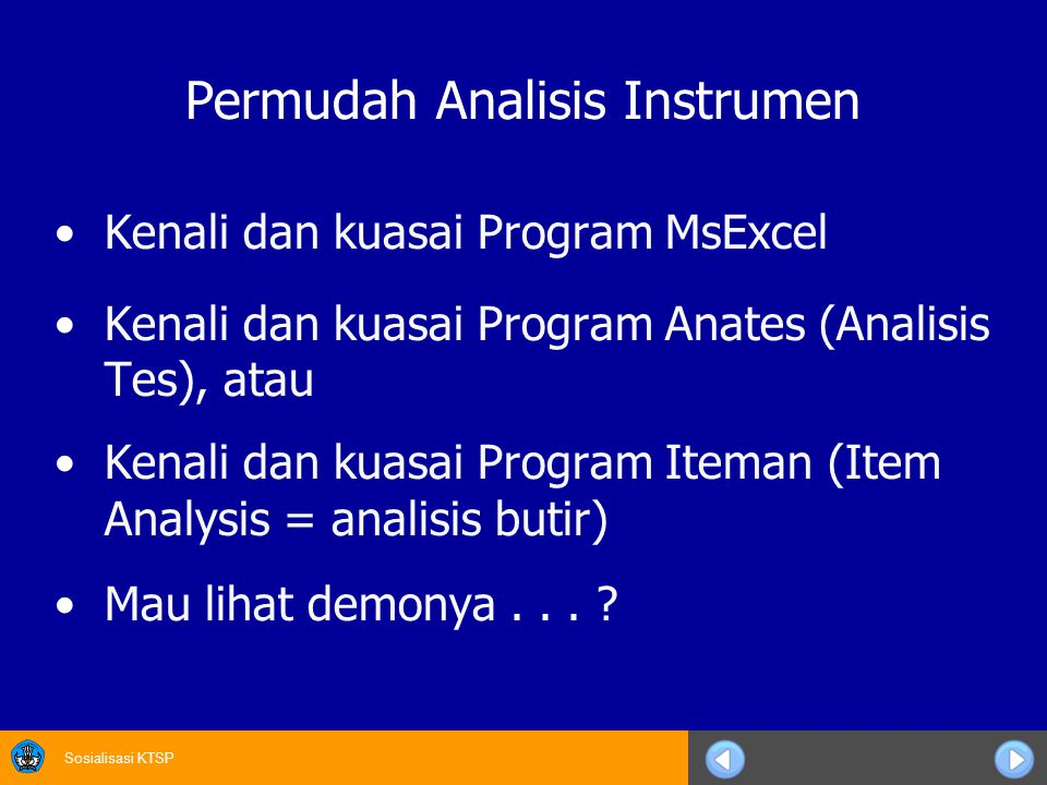 Permudah Analisis Instrumen