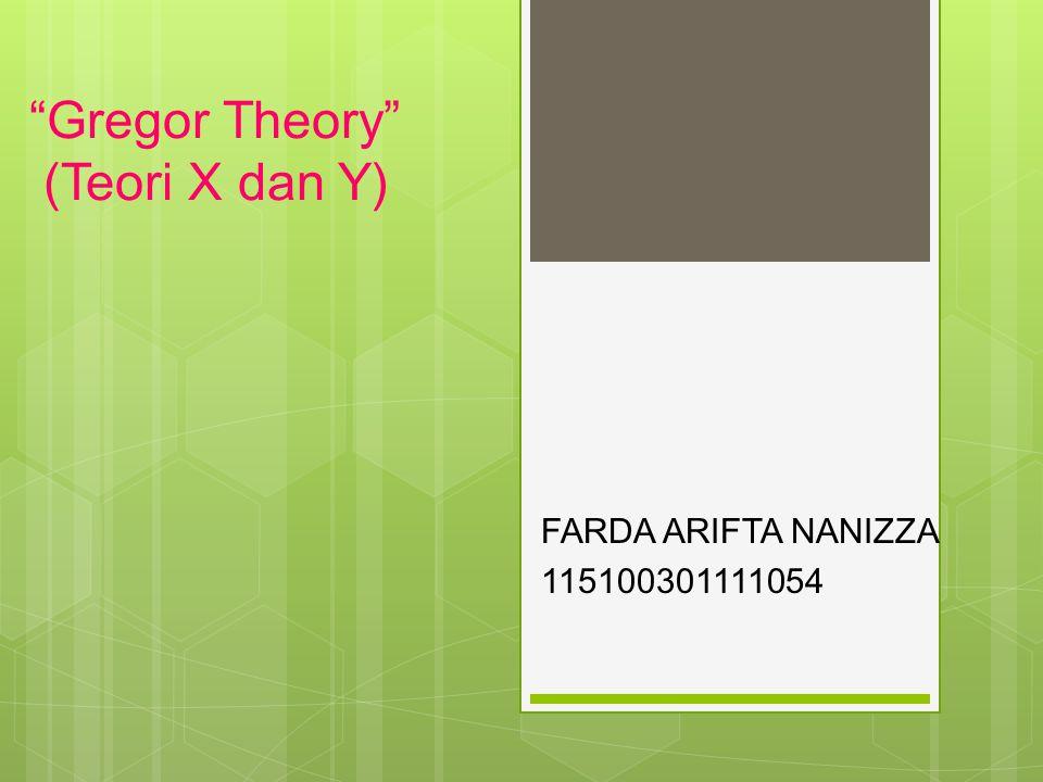 Gregor Theory (Teori X dan Y)