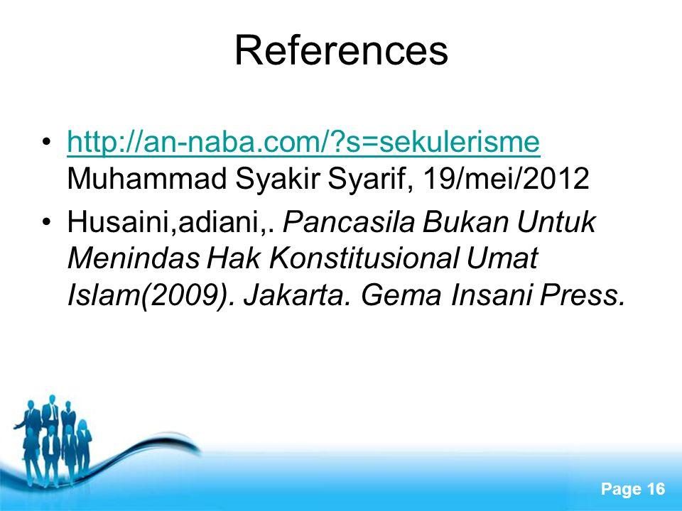 References http://an-naba.com/ s=sekulerisme Muhammad Syakir Syarif, 19/mei/2012.