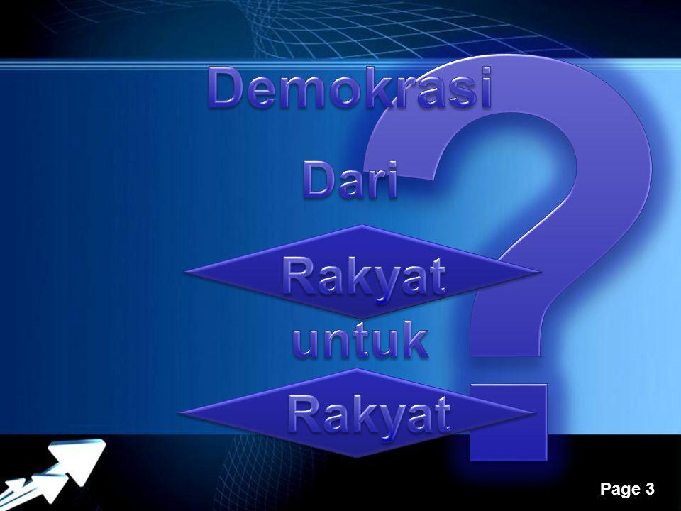 Demokrasi Dari Rakyat untuk Rakyat
