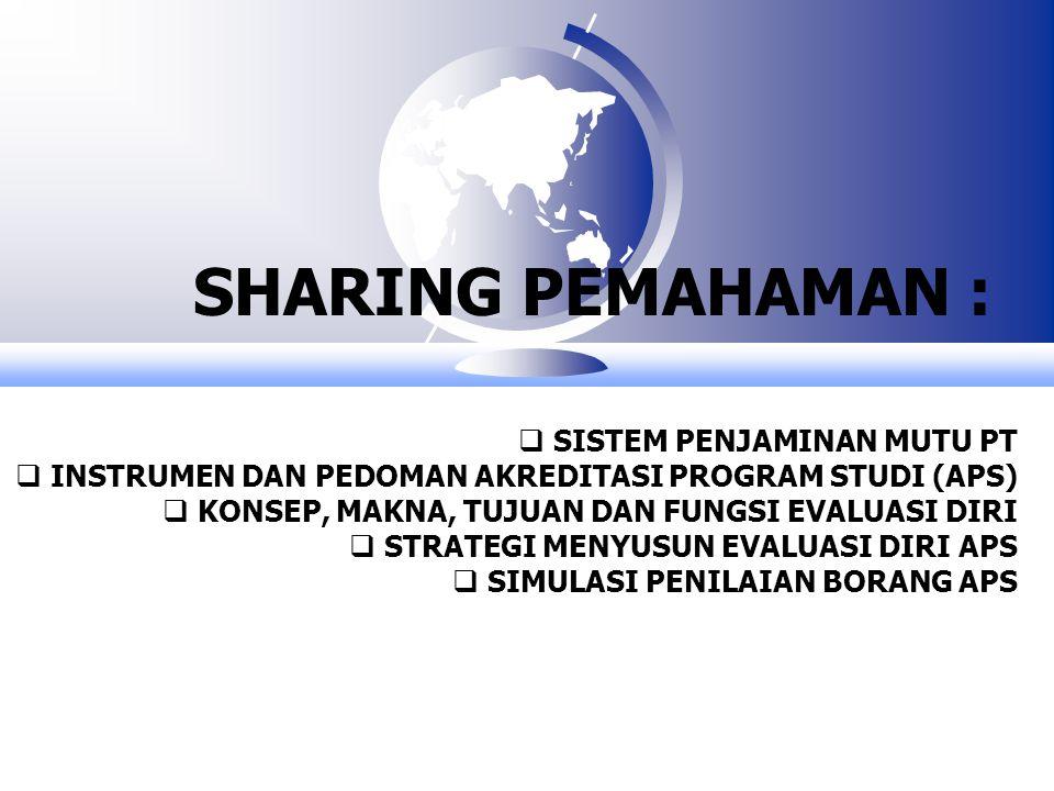 SHARING PEMAHAMAN : SISTEM PENJAMINAN MUTU PT