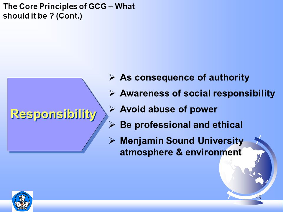 Responsibility As consequence of authority