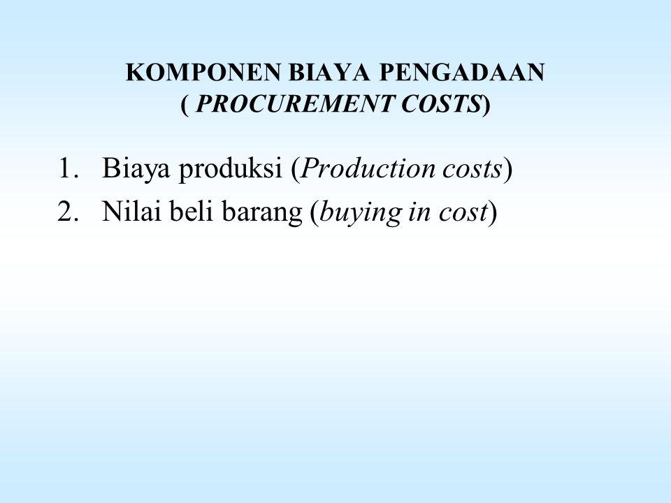 KOMPONEN BIAYA PENGADAAN ( PROCUREMENT COSTS)
