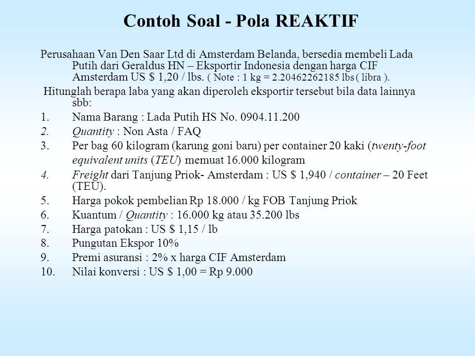 Contoh Soal - Pola REAKTIF