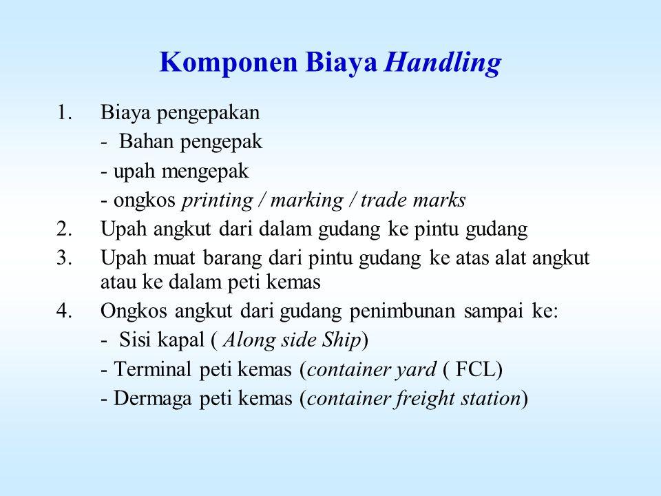 Komponen Biaya Handling
