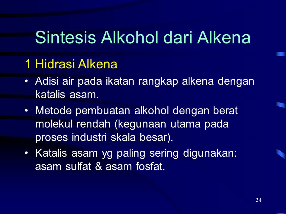 Sintesis Alkohol dari Alkena