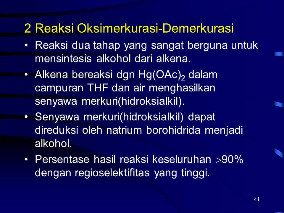 Reaksi Oksimerkurasi-Demerkurasi