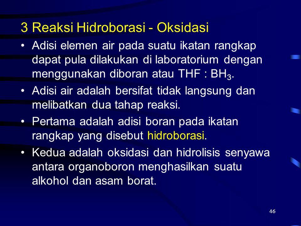 Reaksi Hidroborasi - Oksidasi