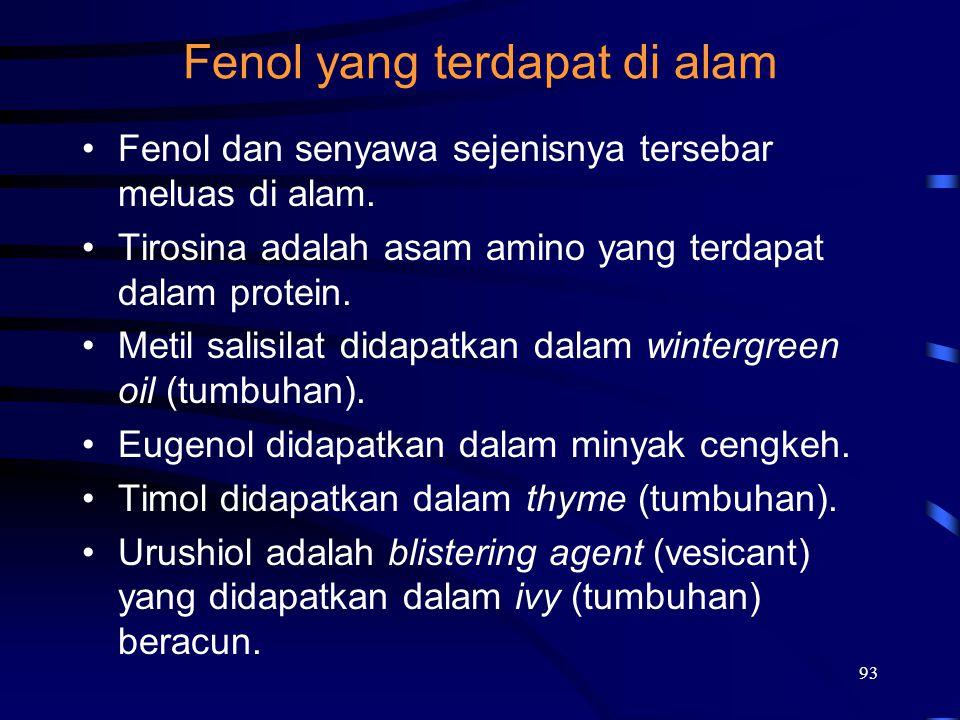 Fenol yang terdapat di alam