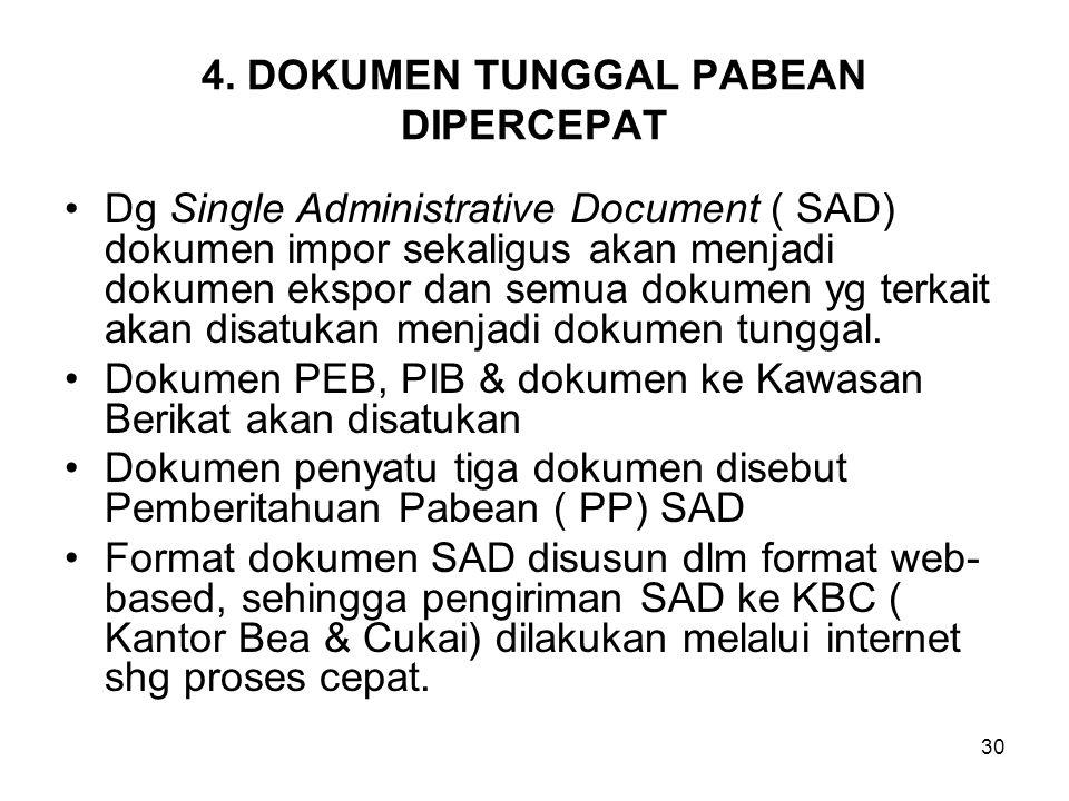 4. DOKUMEN TUNGGAL PABEAN DIPERCEPAT