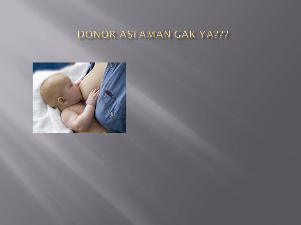Donor ASI aman gak ya