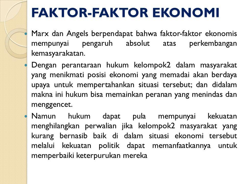 FAKTOR-FAKTOR EKONOMI