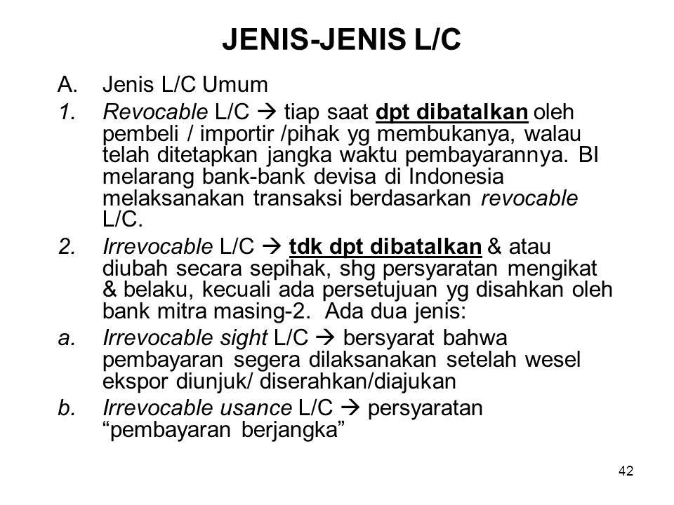 JENIS-JENIS L/C Jenis L/C Umum