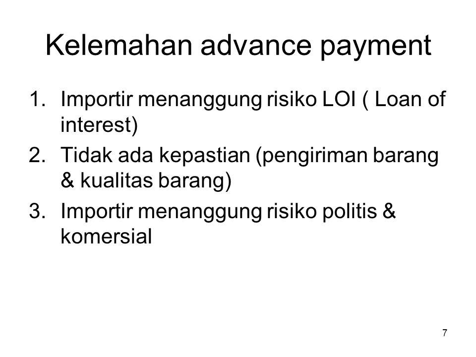Kelemahan advance payment