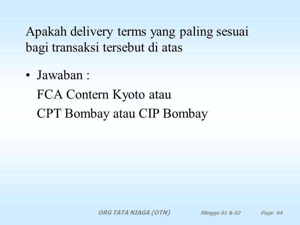 CPT Bombay atau CIP Bombay