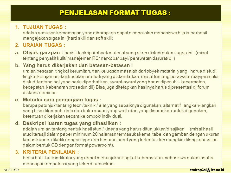 PENJELASAN FORMAT TUGAS :