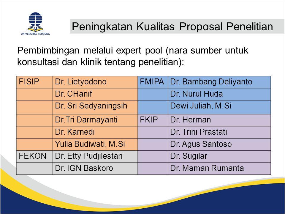 Peningkatan Kualitas Proposal Penelitian