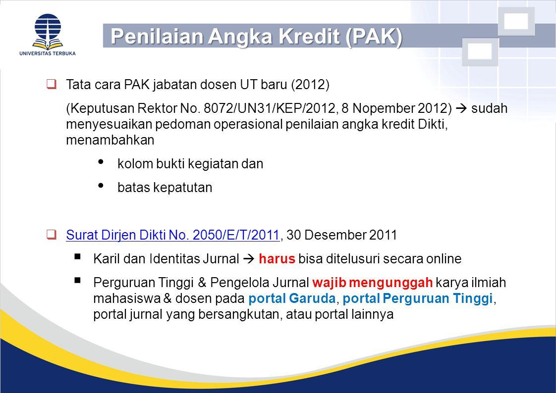 Penilaian Angka Kredit (PAK)