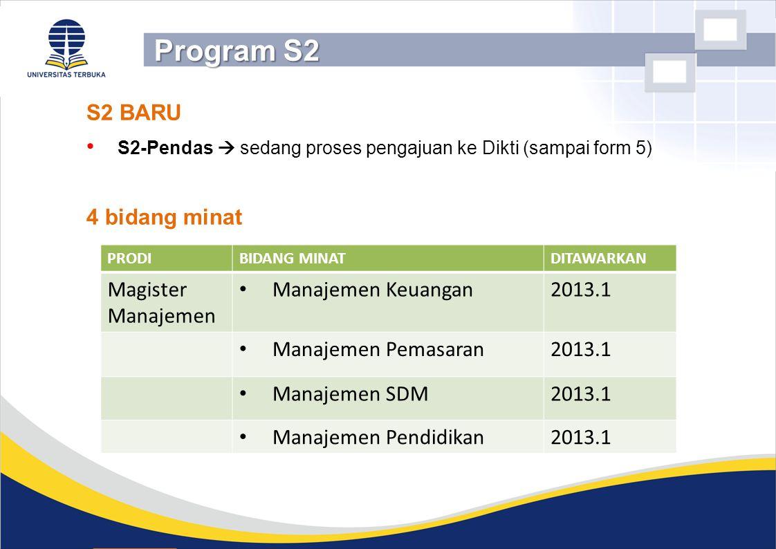 Program S2 S2 BARU 4 bidang minat Magister Manajemen