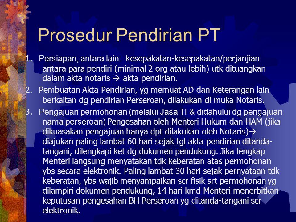 Prosedur Pendirian PT