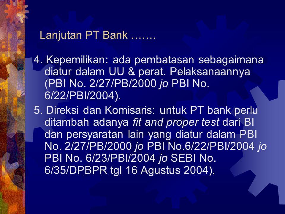 Lanjutan PT Bank …….