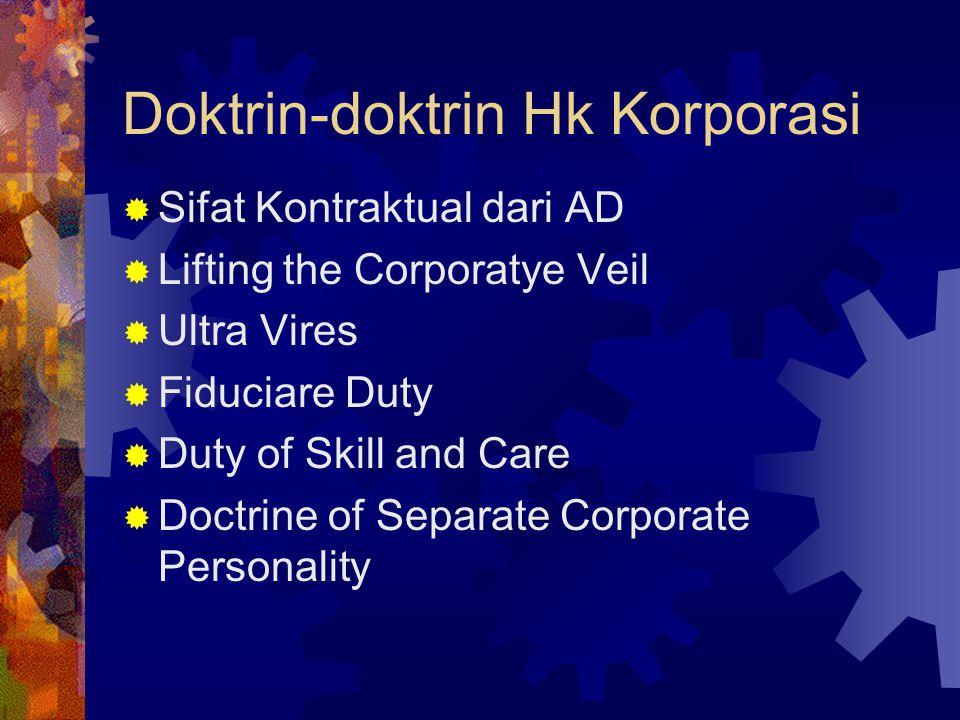 Doktrin-doktrin Hk Korporasi
