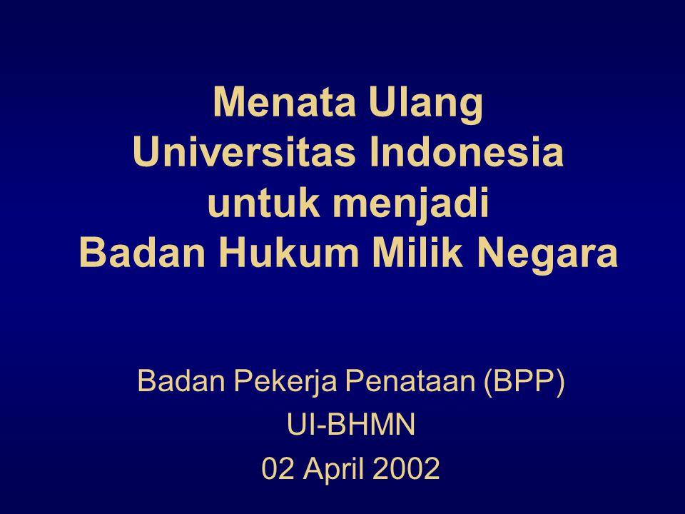 Badan Pekerja Penataan (BPP) UI-BHMN 02 April 2002