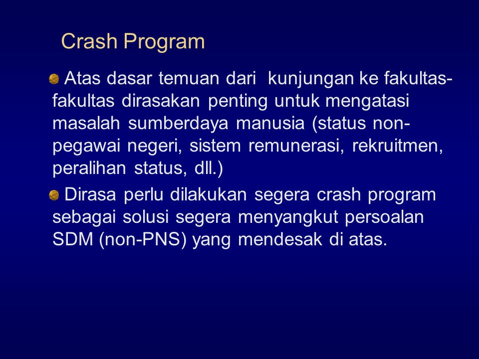 Crash Program