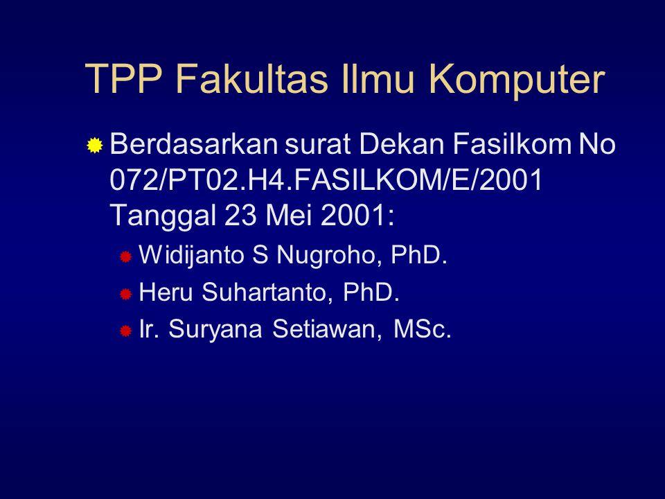 TPP Fakultas Ilmu Komputer