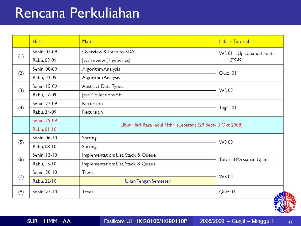 Libur Hari Raya Iedul Fithri (Lebaran) (29 Sept- 3 Okt 2008)