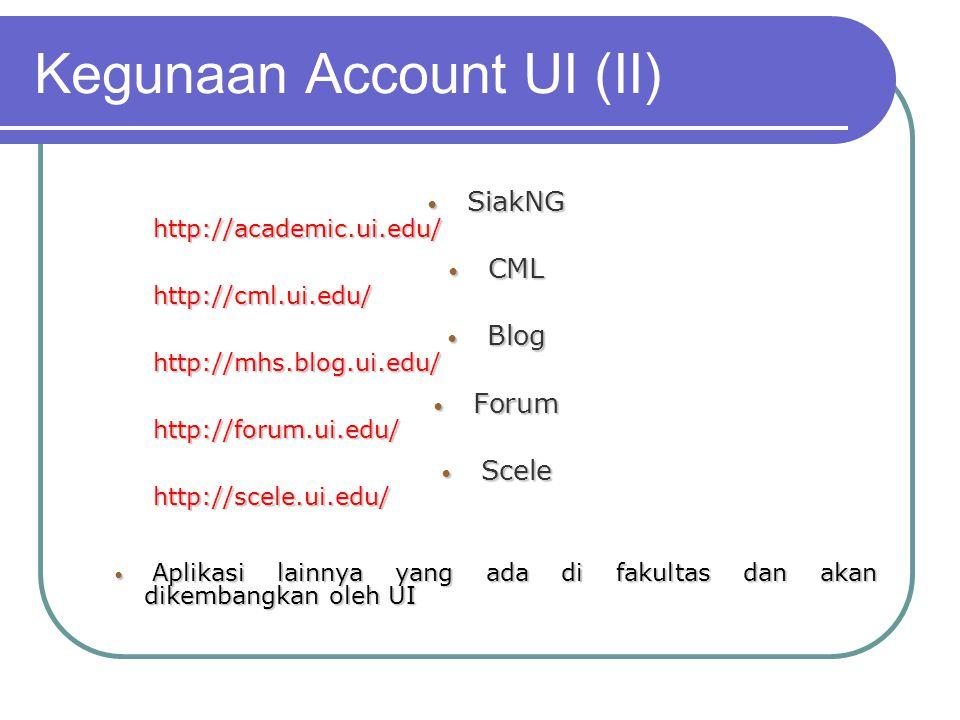 Kegunaan Account UI (II)