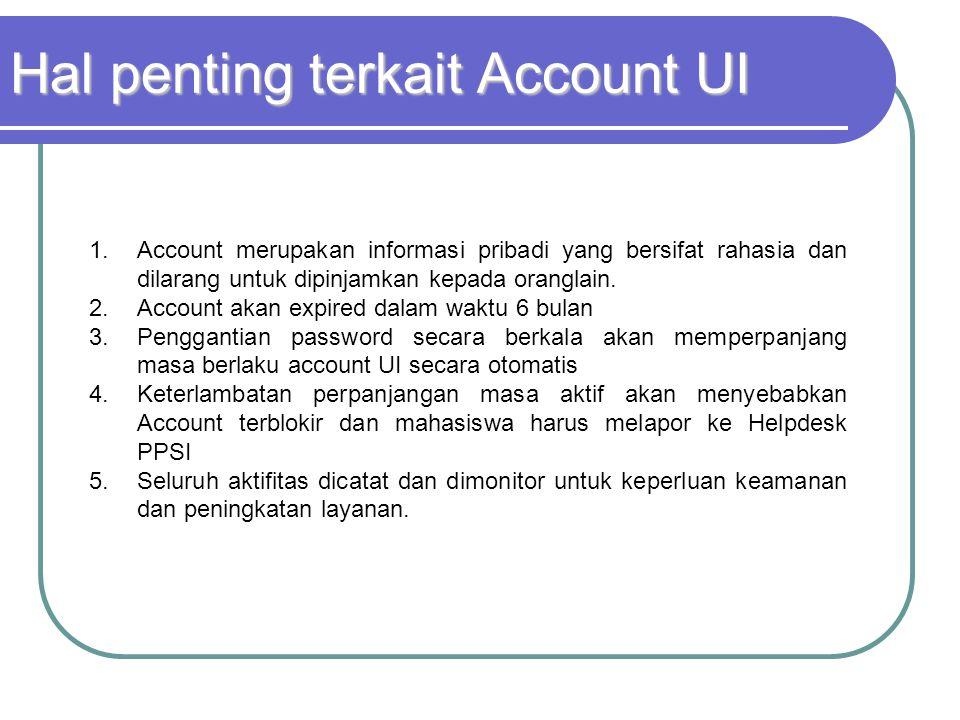 Hal penting terkait Account UI