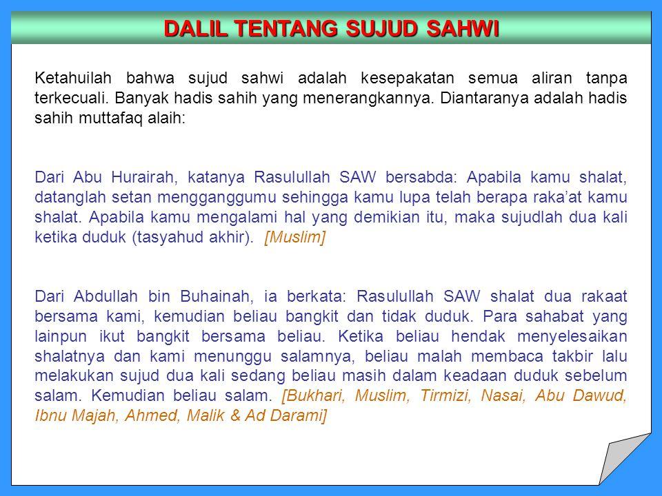 DALIL TENTANG SUJUD SAHWI