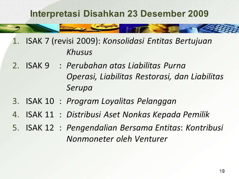 Interpretasi Disahkan 23 Desember 2009