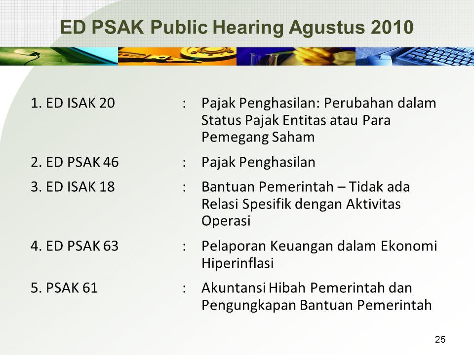 ED PSAK Public Hearing Agustus 2010