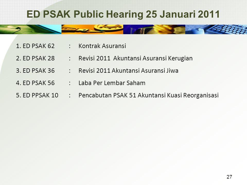 ED PSAK Public Hearing 25 Januari 2011